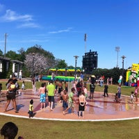 Photo taken at Riverwalk Splashpad by Ronnette J. on 4/13/2013