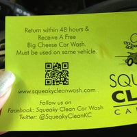 Photo taken at Squeaky Clean Car Wash by Theresa T. on 12/24/2012