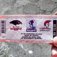 Photo taken at Estádio Francisco Vasques (Souza) by Fernando S. on 12/7/2014