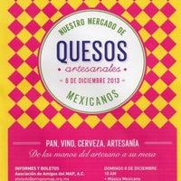 Photo taken at Nuestro Mercado de Quesos Artesanales AAMAP by Gabriela A. on 12/8/2013