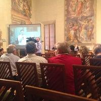 Photo taken at Cappella Farnese by Emanuele V. on 6/18/2014