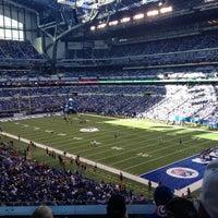 Photo taken at Lucas Oil Stadium by Brett G. on 10/21/2012