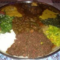 Photo taken at Queen Sheba Ethopian Restaurant by Paul B. on 2/10/2013