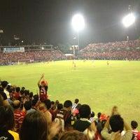 Photo taken at PAT Stadium by Jirawat R. on 10/21/2012