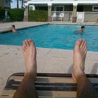 Photo taken at Villa Cortina Pool by Ismael P. on 6/27/2014
