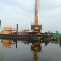 Photo taken at On A Barge At Pump Station 1 by Sandee F. on 6/11/2013