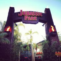Photo taken at Jurassic Park: The Ride by ダイスケ ナ. on 2/15/2013