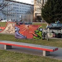 Photo taken at Skatepark Lingner Allee by Joe H. on 3/30/2018