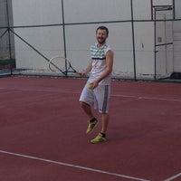 Photo taken at Selenium Twins Tennis Courts by Serdar Y. on 11/5/2013