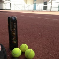 Photo taken at Selenium Twins Tennis Courts by Serdar Y. on 6/21/2013