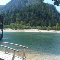 Photo taken at Jezero Jasna by Bart D. on 8/1/2017