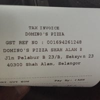 Photo taken at Domino's Pizza by Muhd Halim M. on 3/5/2017