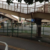 Photo taken at 大森海岸駅前歩道橋 by yuka r. on 9/28/2013