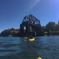Photo taken at Salmon Bay Bridge by Devin K. on 9/11/2015