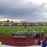 Photo taken at Kermit Courville Stadium by Kevin C. on 9/13/2014