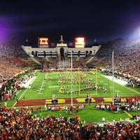 Photo taken at Los Angeles Memorial Coliseum by Eric G. on 11/25/2012
