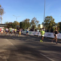 Photo taken at München Marathon by Mirko H. on 10/12/2014