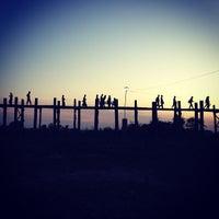 Photo taken at ဦးပိန် တံတား U Bein Bridge by Kittipong T. on 1/1/2013