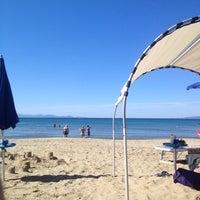 Photo taken at Beach Punta Ala by Дмитрий Л. on 9/22/2013