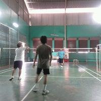 Photo taken at Badminton Kelenteng Kamboja by KUN S. on 1/27/2013