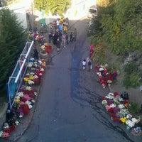 Photo taken at Feriköy İslam Mezarlığı by Serap O. on 10/25/2012