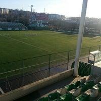 Photo taken at Metin Oktay Stadı by Nurhan K. on 1/19/2013