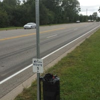Photo taken at AATA Bus Stop Route 5 to Ann Arbor by Paul S. on 9/13/2013