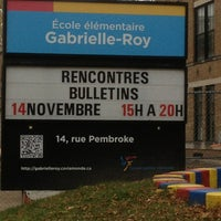 Photo taken at Ecole Elementaire Gabrielle-Roy by Serge P. on 11/11/2013