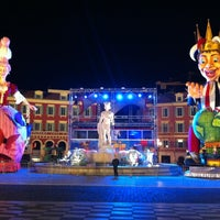 Photo taken at Place Masséna by Oscar L. on 2/20/2013