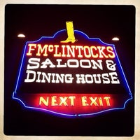 Photo taken at F. McLintocks Saloons and Dining House by Dan U. on 2/23/2014