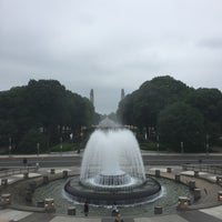 Photo taken at State Capitol Fountain by Cam B. on 5/27/2018