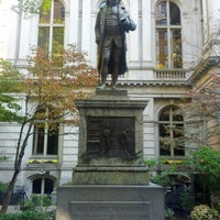 Photo taken at Benjamin Franklin Statue by Serhat Ç. on 10/17/2012