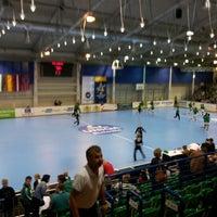 Photo taken at OBO Aréna - Dabasi Sportcsarnok by László R. on 10/21/2012