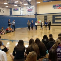 Photo taken at Bayport Gymnasium by Chris R. on 3/12/2014