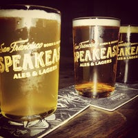 Photo taken at Speakeasy Ales & Lagers by Rachel F. on 6/20/2013