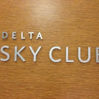 Photo taken at Delta Sky Club by Leandro N. on 7/21/2013