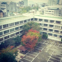 Photo taken at 홍익대학교 제4공학관 T동 by Tsabes L. on 10/22/2012