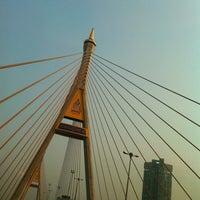 Photo taken at Bhumibol 1 Bridge by Patthira K. on 1/23/2013