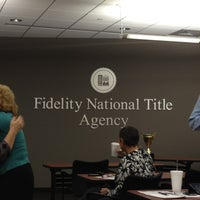Photo taken at Fidelity Title by Cheron L. on 11/2/2011