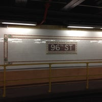 Photo taken at MTA Subway - 96th St (1/2/3) by Ruben H. on 3/5/2012