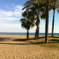 Photo taken at Playa de La Misericordia by Manuel Fco M. on 1/20/2012