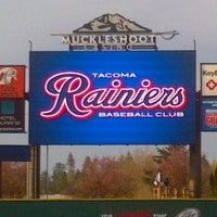 Photo taken at Cheney Stadium by Da Le' G. on 4/11/2012
