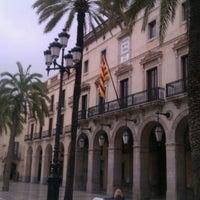 Photo taken at Plaça de la Vila by Merche M. on 4/25/2012