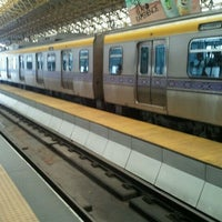 Photo taken at LRT 2 (Araneta Center-Cubao Station) by Hyubs U. on 5/24/2011