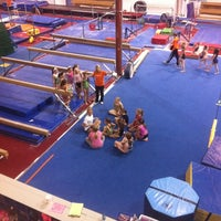 Photo taken at Gymquarters Gymnastics Center by LB P. on 1/19/2012