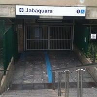 Photo taken at Estação Jabaquara (Metrô) by Giovanni G. on 5/23/2012