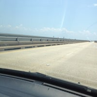 Photo taken at Lake Pontchartrain Causeway by Debbie C. on 5/19/2012