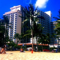 Photo taken at Waikiki Beach Walls by Roman on 7/15/2012