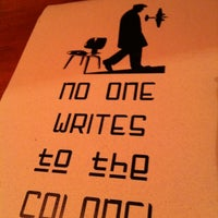 Photo taken at No One Writes To The Colonel by Lauren W. on 7/19/2011