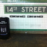 Photo taken at MTA Subway - 14th St/Union Square (4/5/6/L/N/Q/R/W) by Cliff on 12/1/2011